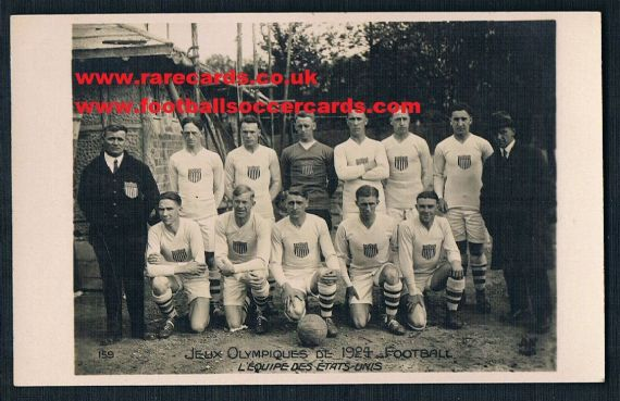 1924 USA Olympic soccer team America